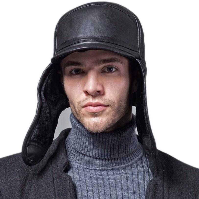 ee02e4599e Hot Sale] RY0201 Male Winter Warm Ear Protection Bomber Hat Man ...