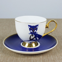 200ml Creative Bone Porcelain coffee Cup saucer set afternoon tea home couples Cup Chinese Ceramic Cup dish set Free Shipping