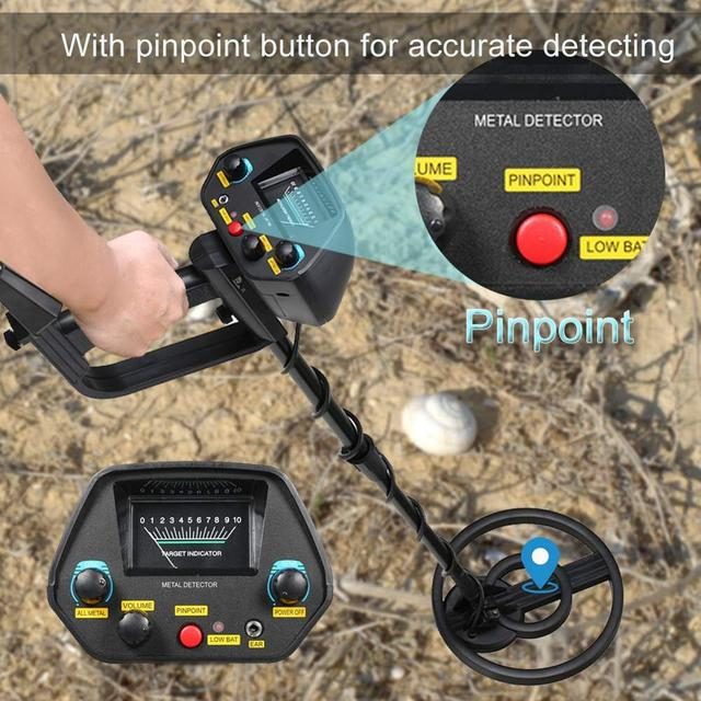Professional Underground Metal Detector MD-4080 Gold Ground Metal Detector  Nugget High Sensitivity Sliver Finder Pinpointer 3