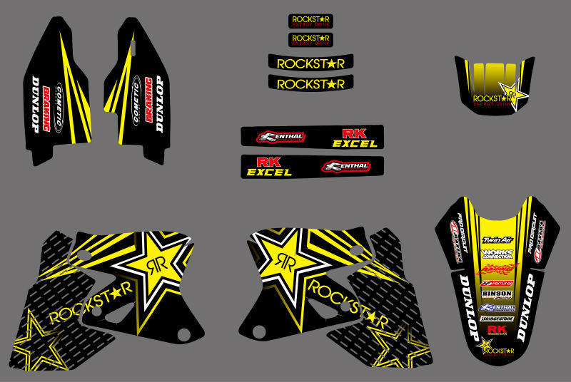 0026 Star New Style TEAM GRAPHICS DECALS Stickers FOR Suzuki DRZ400 DRZ 400 All Years For