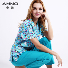 5XL Plus Storlek Blue Hospital Scrubs Set Nursing Uniforms Medicinsk Klädsel Skönhetssalong Tandklinik Design Sjuksköterskor Scrubs Kvinnor