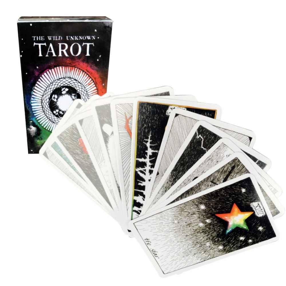 78 Cards Mystic Deck Playing Tarot Cards Magical Animal Board Game Family Xmas Birthday Gift