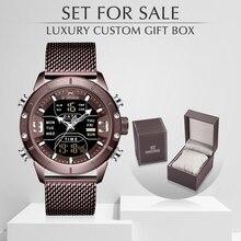 NAVIFORCE montre hommes sport montres à Quartz Top marque de luxe en acier étanche montre bracelet avec boîte à vendre Relogio Masculino