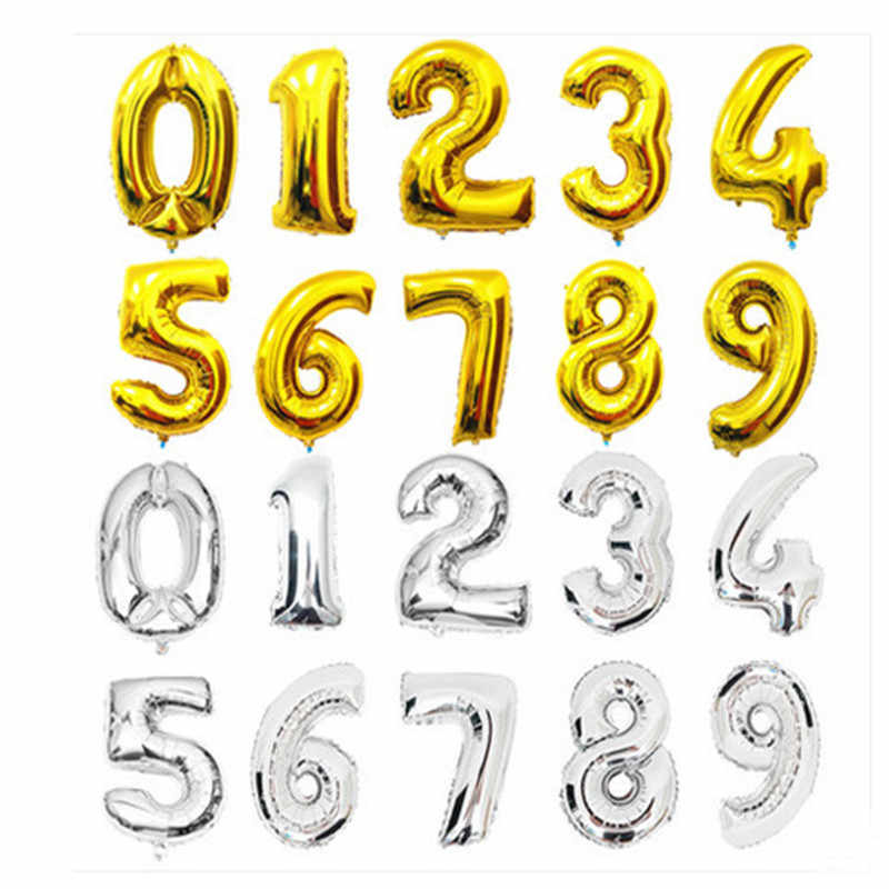 XXPWJ   wedding wedding supplies wholesale 16-inch digital aluminum balloons birthday party decoration foil balloon