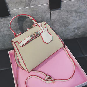 61a037fd39 Ali-Celiny Color Kelly Handbag PU Leather Bag Print Logo