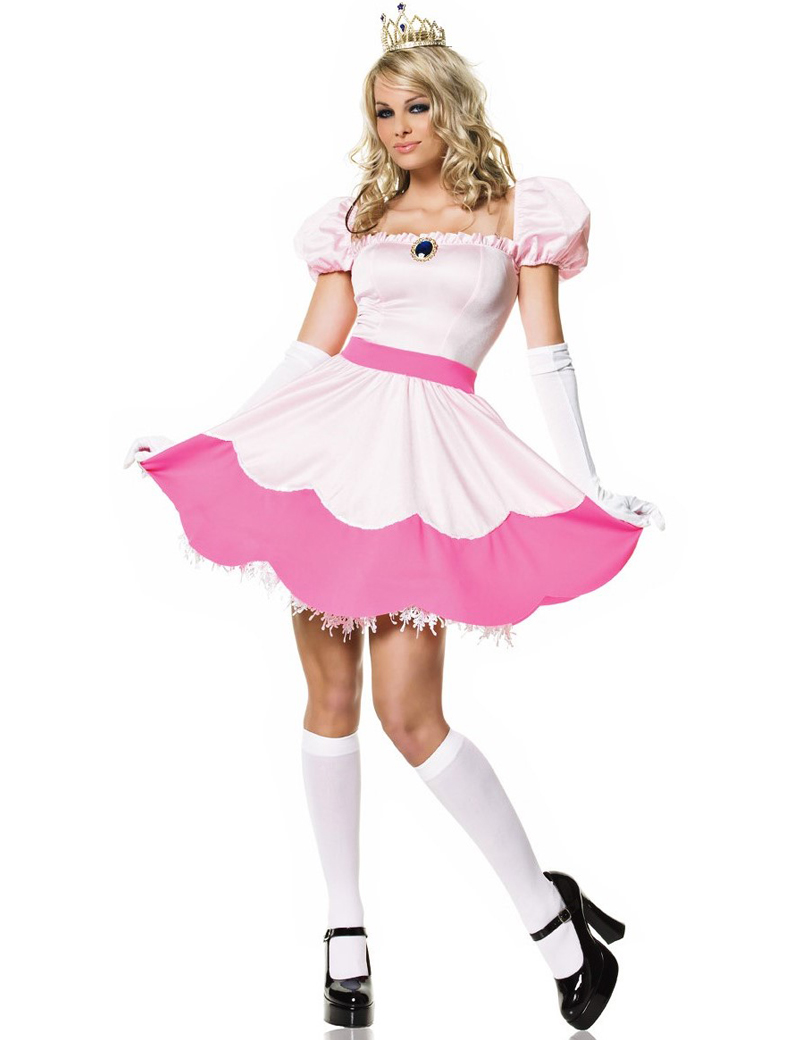 Moonight Pink Adult Rapunzel Fancy Dress Anime Cosplay Costume