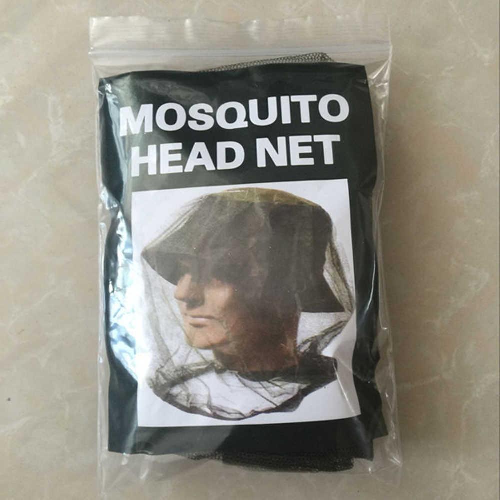 Nueva tapa de pesca al aire libre Midge Mosquito insectos sombrero de pesca red para insectos cabeza de red Protector de cara de viaje Camping gorra sombreros