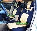 (Frente + Traseira) Universal Car-PicassoC3 Capas Para CITROEN Elysee C4 C5 C4l DS4 Car Seat Cover 3D Material De Seda + Livre grátis