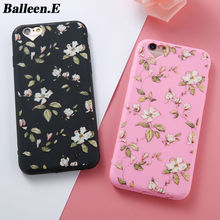 Balleen.E Luxury Retro Flower Orange Soft TPU Phone Cases For iPhone 7 6 6s Plus 5 5s SE Back Cover Case Capa Coque For iphone 7