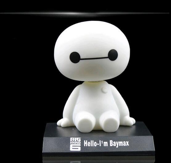 2017 Funko pop <font><b>Big</b></font> <font><b>Hero</b></font> <font><b>6</b></font> <font><b>Baymax</b></font> Toy Model Dolls figma 12cm Lovely Cute Automobile Head Shaking <font><b>Action</b></font> <font><b>Figure</b></font> GIFT