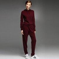 Adohon 2018 Для женщин S зимние кашемировые свитера и auntmun Для женщин комплекты трикотажные пуловеры высокое качество теплые женские брюки