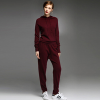 adohon 2018 womens winter Cashmere sweaters and auntmun women Women's Sets knitted Pullovers High Quality Warm Female Pants