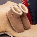 UVWP Venda Hot Top Quality Mulheres Botas de Neve Quente Botas de Inverno Genuíno Couro de pele de Carneiro 100% Mulheres Tornozelo Botas de Pele Natural para inverno