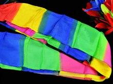 5 м Радуга Magic шелковый шарф многоцветный ультра-тонкий Шарфы Фокусы для сцены Закрыть Magic реквизит Magia подарок для малыша