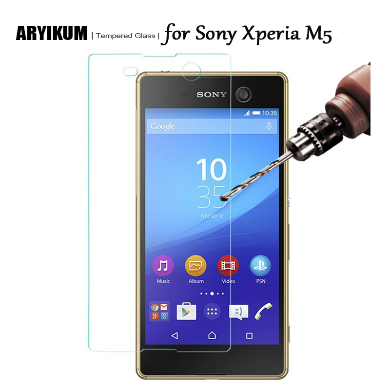 M5 HD Tempered Glass for Sony Xperia M5 Aqua Screen Protector HD Tempered Glass Protective Cover Film for Sony M5 Dual Coque