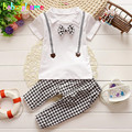 2016 New Summer Baby Boy Suits Toddler Boys Clothing Kids Fashion Clothes Bow Tie T-shirt+Pant 2pcs set 0-3Year Children BC1134