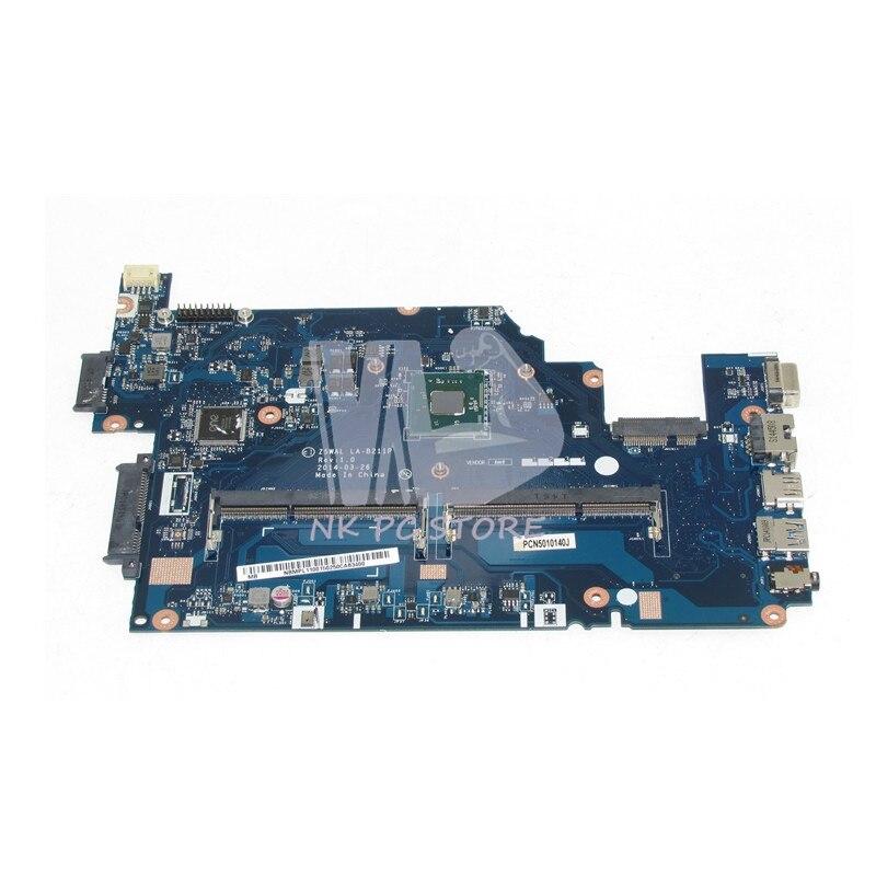 NBMPL11001 NB.MPL11.001 For Acer aspire E5-511 Laptop motherboard Z5WAL LA-B211P SR1W3 N2930 CPU DDR3L nokotion laptop motherboard for acer aspire 5820g 5820t 5820tzg mbptg06001 dazr7bmb8e0 31zr7mb0000 hm55 ddr3 mainboard