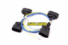 AIDUAUTO HID Xenon Headlight 10 to 12 Pin Connector Adapter harness Wire  FOR VW Jetta MK5