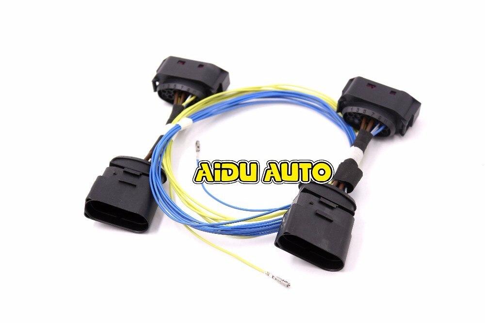 AIDUAUTO HID Xenon Phare 10 à 12 Broches Connecteur Adaptateur harnais Fil POUR VW Jetta MK5
