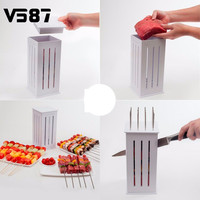 16 Holes Meat Skewer Kebab Maker BBQ Kabob Maker Kabob Maker Box Machine Beef Meat Maker