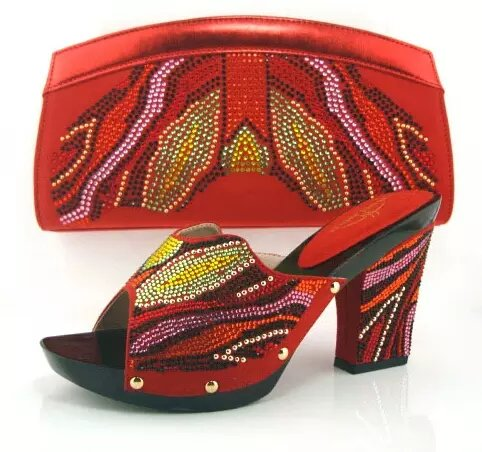 Africa Design Woman Slipper Shoes And Bags Sets Summer Style Fashion High Heel Shoes And Bag Set Free Shipping Size 37-43 free shipping no 40 3 red color fo shoes and bag set new summer women s shoes low heel shoes crystal high heel shoes