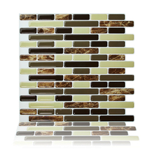 Cocotik Self Adhesive 3D Wall Tile Peel and Stick Backsplash for Kitchen , 10.5x10 Pack of 4