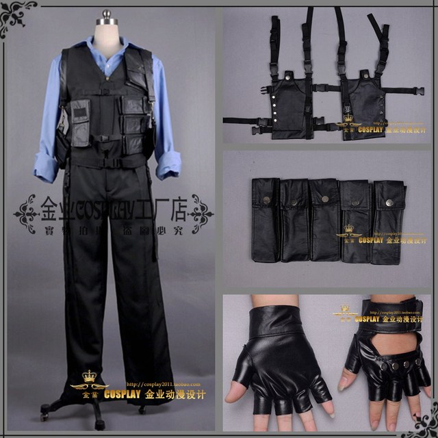 2016 Resident Evil 6 Afterlife Leon Scott Kennedy Leon S Kennedy Cosplay  Costume HongKong Version ad9eb3f448a1