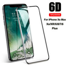 Slim Tempered Glass for iPhone Xr Xs Max X 5 5S 6 6S Plus 7 8 Plus Front Film Screen Protector Smartphone Accessories(China)