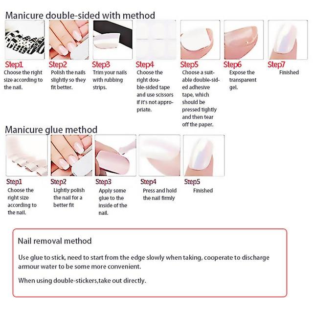 24pcs fake long fingernail Ballet Nude color transparent Pink cloud Manicure patch press on nails with designs for girls 5