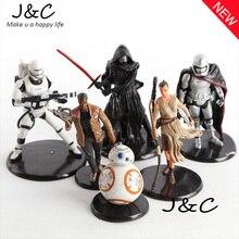 2016 Star Wars Action Figures Clone Trooper Storm Trooper Anime Movie Star Wars Darth Vader Action Figure Function 6Pcs/lot