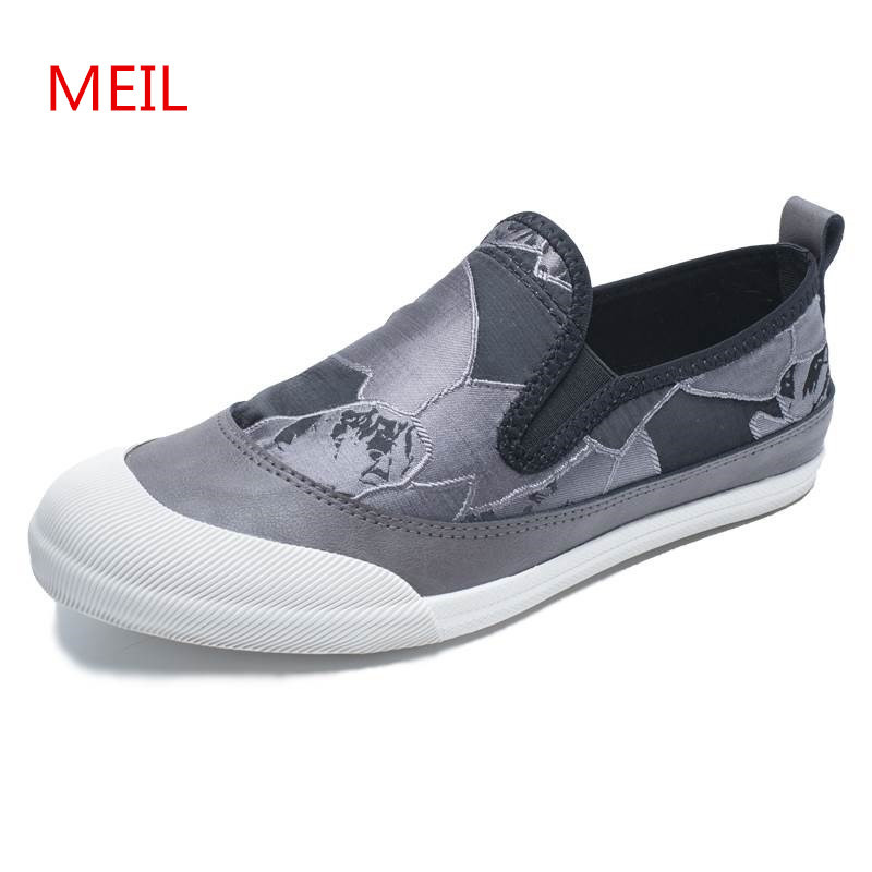 Men Canvas Shoes 2018 Fashion Men Vulcanized Shoes Casual Slip on Shoes Men Sneakers Loafers Zapatillas Hombre Zapatos Trainers reetene 2017 summer fashion men casual shoes breathable canvas shoes men flats slip on men shoes casual zapatos hombre 37 48
