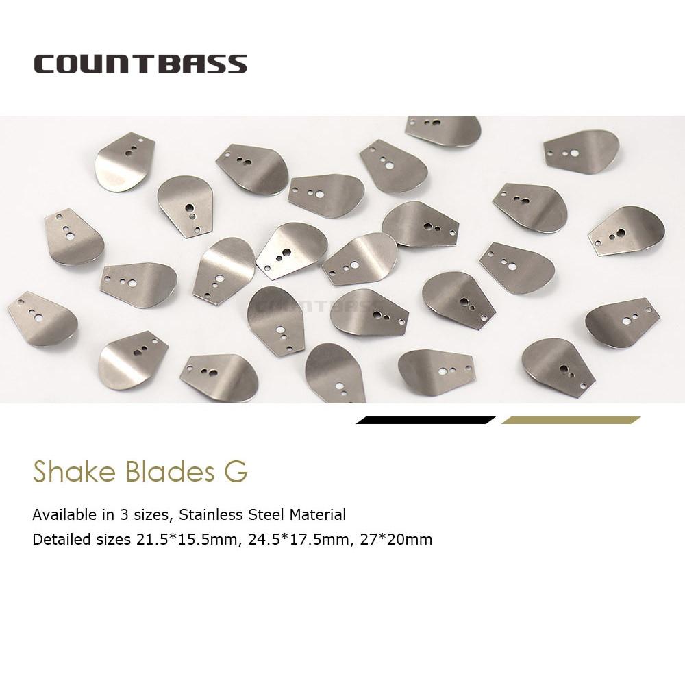 50pcs Swim Jig Blade, Stainless Steel Chatterbait Blade, DIY Vibration Jigs, Casting Wobble fishing Jig Lure-1