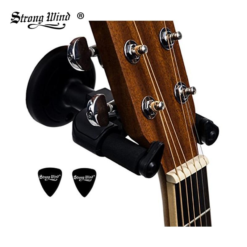 Guitar Hanger Hook Holder Wall Mount Stand Rack Bracket Display All Size Guitars Bass Free Ship High Quality Hooks Strong Wind