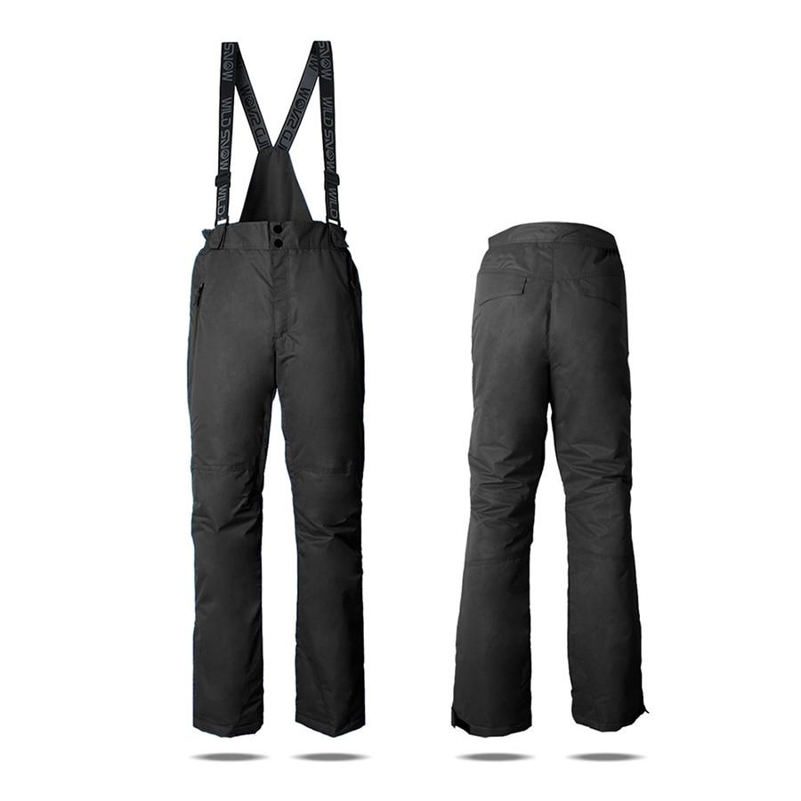 Professional Winter Ski Pants Waterproof Windproof Thick Warm Snow Snowboard trousers for men Climbing wear Outdoor Sport