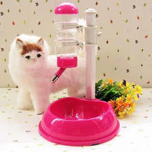 500ml Dog Cat Food Bowl Water Dispenser Stand Feeder Bottle Plastic Dog Cat Drinking Fountain Food Dish Pet Supplies 1pc 1pc dog cat hamster water bottle dispenser feeder hanging pet dog guinea pig squirrel rabbit drinking head pipe fountain