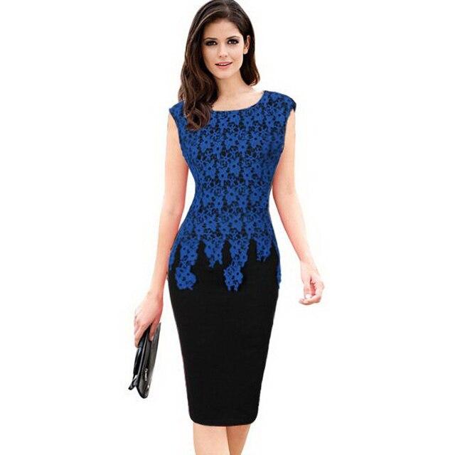 Vestidos de las mujeres elegantes de la vendimia floral crochet ...