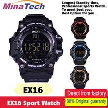 Получить скидку Новый EX16 Спорт Bluetooth Смарт часы Xwatch 5ATM IP67 Водонепроницаемый Smartwatch Шагомер Секундомер Будильник долгое время ожидания
