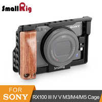 SmallRig RX100 Camera Cage With Wooden Side Handle For Sony RX100 M3/M4/M5/M5A DSLR Cage+Handgrip Kit -2105