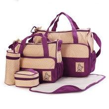 5 Pçs/set Multifunções de Alta Qualidade Tote Bebê Ombro Diaper Bags Durable Fralda Saco Mummy Saco Do Bebê 10 Cores(China (Mainland))