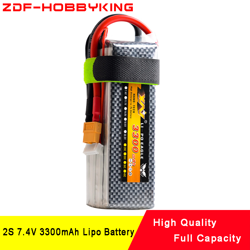 2018 ZDF Lipo Battery 2S 7.4V 3300MAH 25C MAX90C T/XT60 LiPo RC Battery For Rc Helicopter Car Boat 2S limskey power 7 4v 4200mah 25c 2s lipo battery with t xt60 plug for rc car airplane helicopter 7 4 v 4200 mah 2s lipo battery
