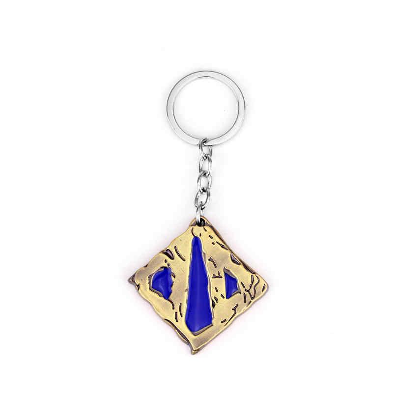 Новый Интимные аксессуары Dota 2 логотип Стиль металлический кулон брелки брелок для ключей Косплэй украшения для Для женщин и для мужчин-50