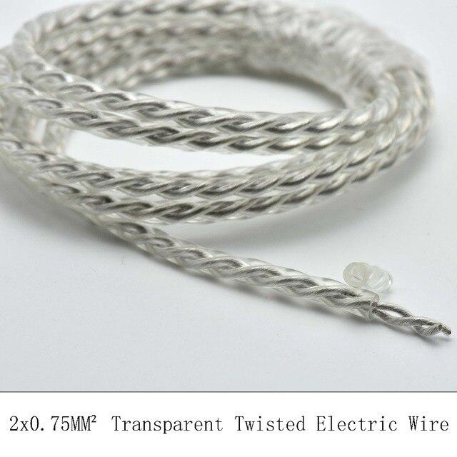 2*0.75mm2 5 Mt/los Tansparent Vintage Elektrischen Draht PVC ...