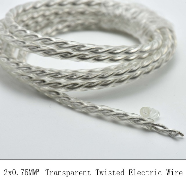 2*0.75mm2 5M/Lot Tansparent Vintage Electrical Wire PVC Twisted Wire ...