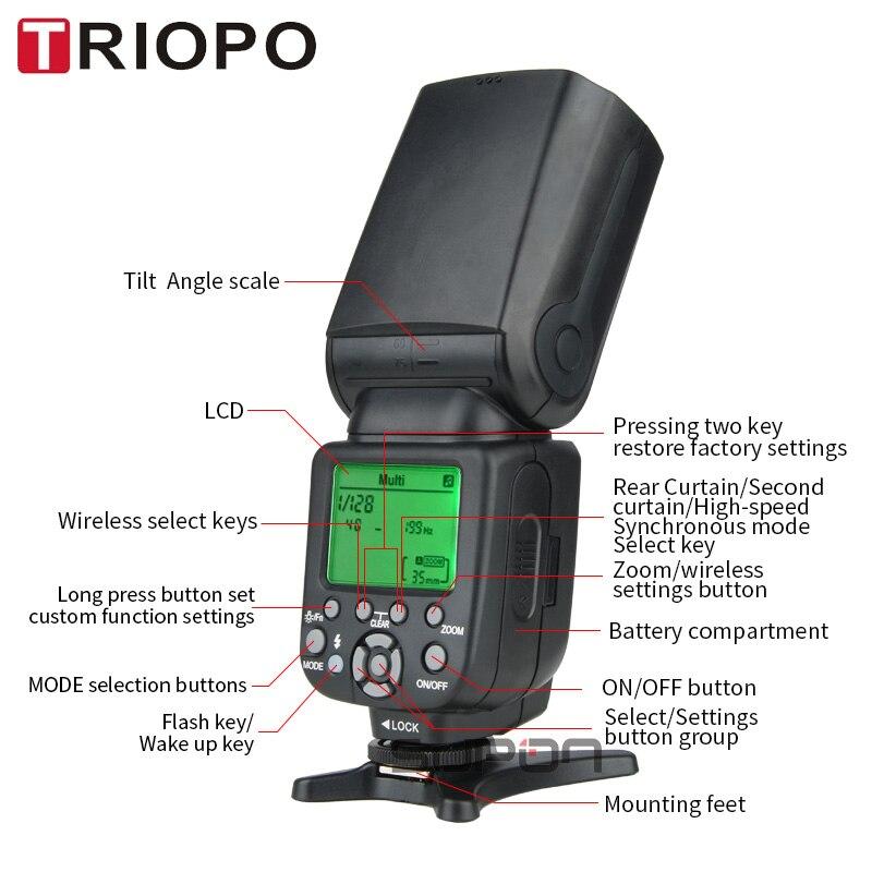 TRIOPO TR-988 Professional Speedlite TTL Kamera Flash med * High - Kamera og foto - Foto 4