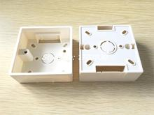 3 x White PVC Single Gang Wall Switch Pattress Back Box 86mm x 86mm x 33mm