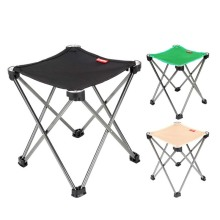 Outdoor Aluminium Alloy Fishing Chair Portable Folding Chair Outdoor Barbecue Folding Stool JC