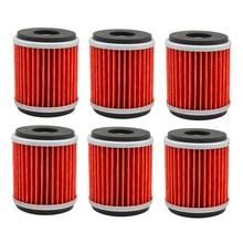 6 шт. масляный фильтр для YAMAHA YZ450F YZ 450F YZ 450 F 2009 2010 2011 2012 2013 YZF450 YZF 450
