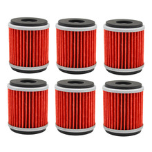 6pcs Oil Filter For YAMAHA YZ450F YZ 450F YZ 450 F 2009 2010 2011 2012 2013