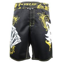 Men's boxing pants printing MMA Shorts Fight Grappling Short Polyester Kick Gel Boxing Muay Thai Pants thai boxing shorts