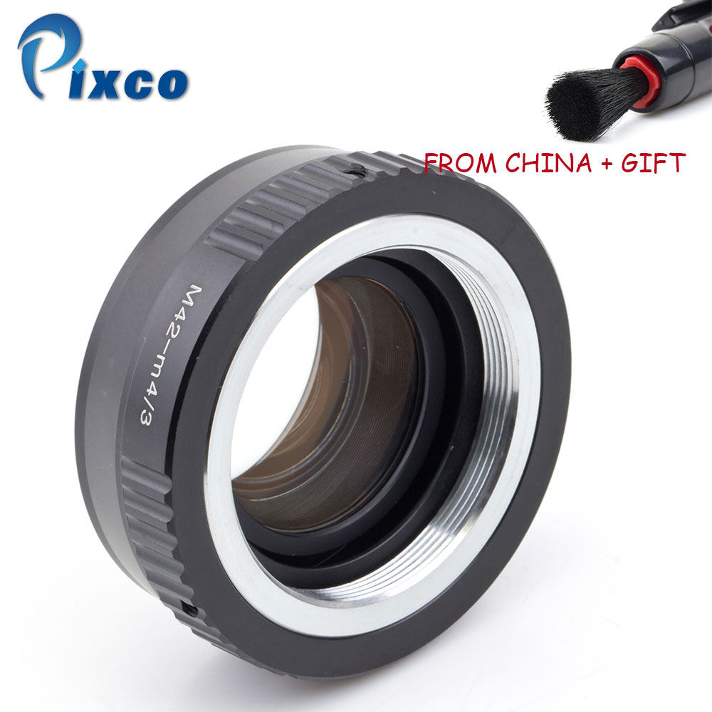 ADPLO M42-M/43 Focal Reducer Speed Booster, Suit for M42 Lens to Suit For Micro Four Thirds 4/3 Camera For Panasonic LUMIX GX9 macro tilt lens adapter for pk m4 3 suit for pk lens to suit for micro four thirds 4 3 camera for panasonic lumix gx9 gx85 gx8
